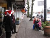 Entertaining on the street in the Marpole Business District
