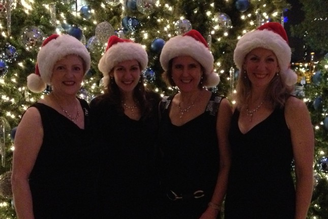 Singing at the Fairmont Hotel